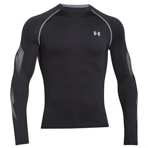 UNDER ARMOUR FITTED LONG SLEEVES SHIRT HEATGEAR GRIP MEN